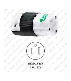 Hubbell HBL8219C NEMA 5-15 Female Connector -Hospital Grade