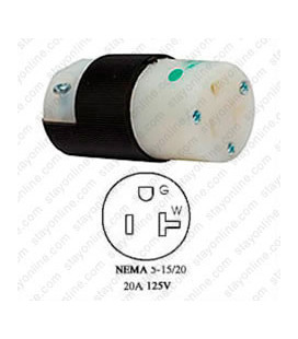 Hubbell HBL8319C NEMA 5-20 Female Connector -Hospital Grade