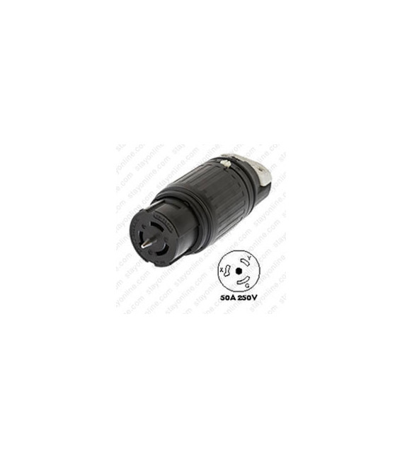 Hubbell CS8264C California Standard Female Connector - 50 Amp, 250 Volt