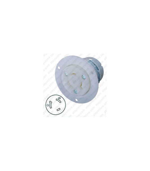 Hubbell HBL2336 AC Flanged Outlet NEMA L7-20 Female White