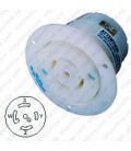 Hubbell HBL2816 NEMA L21-30 Flanged Female Outlet - White