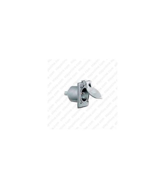 HUBBELL HBL61CM64 AC Inlet NEMA 5-15 Male Gray Marine