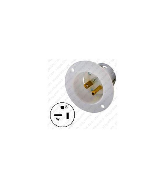 Hubbell HBL5378C NEMA 5-20 Male Inlet - White