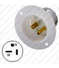 Hubbell HBL5378C NEMA 5-20 Male Inlet - White