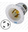 Hubbell HBL2625 NEMA L6-30 Male Inlet - White