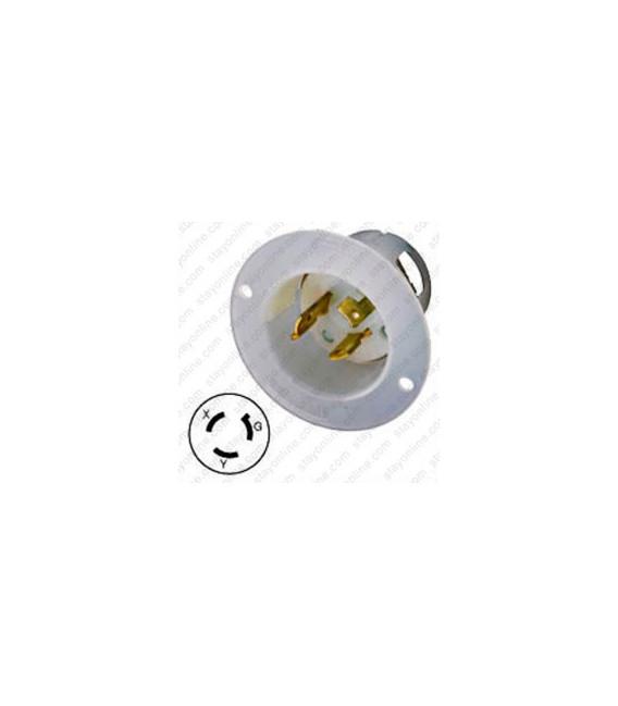 Hubbell HBL4586C NEMA L6-15 Male Inlet - White