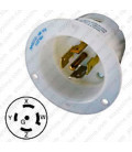 Hubbell HBL2515 NEMA L21-20 Male Inlet - White