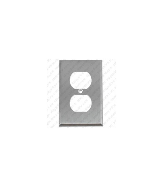 Hubbell SS8 Wall Plate AC 1 Gang 1 Duplex Standard Stainless Steel
