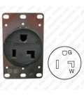 Hubbell HBL9308 NEMA 5-30 Female Receptacle - 30 Amp, 125 Volt, Black