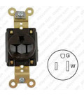 Hubbell HBL5261 NEMA 5-15 Industrial Grade Female Receptacle - Simplex, Brown