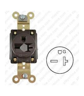 Hubbell HBL5461 NEMA 6-15/20 Industrial Grade Female T-Slot Receptacle - Simplex