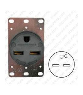 Hubbell HBL9330 NEMA 6-30 Female Receptacle - 30 Amp, 250 Volt, Black