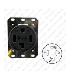 Hubbell HBL9430A NEMA 14-30 Female Receptacle - 30 Amp, 125/250 Volt, Black