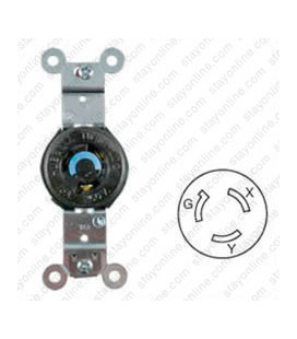 Hubbell HBL4560 NEMA L6-15 Female Receptacle - 15 Amp, 250 Volt, Black