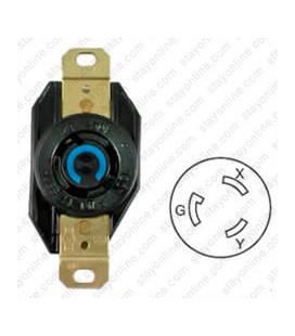 Hubbell HBL2320 NEMA L6-20 Female Receptacle - 20 Amp, 250 Volt, Black