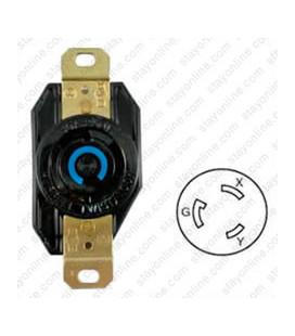 Hubbell HBL2620 NEMA L6-30 Female Receptacle - 30 Amp, 250 Volt, Black