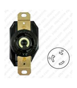 Hubbell HBL2610 NEMA L5-30 Female Receptacle - 30 Amp, 125 Volt, Black