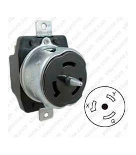 Hubbell CS8269 California Standard Female Receptacle - 50 Amp, 250 Volt, Black