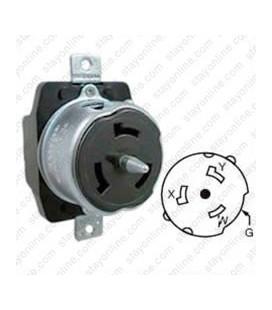 Hubbell CS6369 California Standard Female Receptacle - 50 Amp, 125/250 Volt, Black