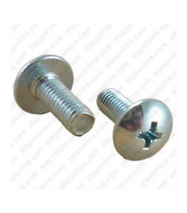 M5 Silver 19mm Phillips Head Rack Screw - Washer Included