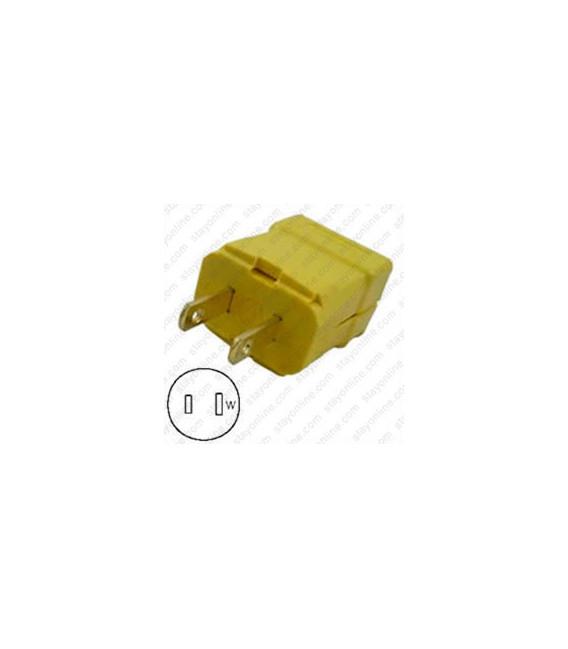 Hubbell HBL5865VY NEMA 1-15 Male Plug - Valise, Yellow