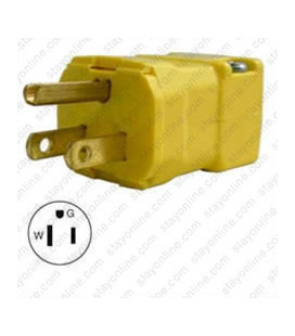 Hubbell HBL5965VY NEMA 5-15 Male Plug - Valise, Yellow