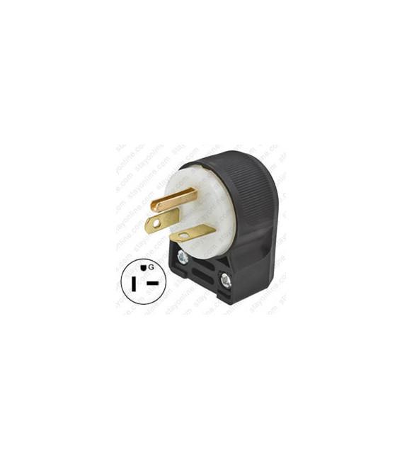 Hubbell HBL5466CA NEMA 6-20 Angled Entry Male Plug