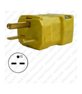 Hubbell HBL5666VY NEMA 6-15 Male Plug - Valise, Yellow