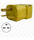 Hubbell HBL5666VY NEMA 6-15 Male Plug - Valise, Yellow
