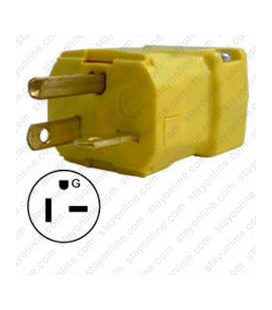 Hubbell HBL5464VY NEMA 6-20 Male Plug - Valise, Yellow