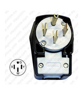 Hubbell HBL9452C NEMA 14-50 Angled Entry Male Plug