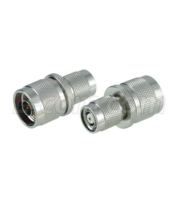 Adaptador RP-TNC plug (cuerpo macho pin hembra) a N macho