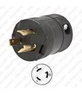 HUBBELL HBL2321VBK NEMA L6-20 Male Plug - Valise, Black