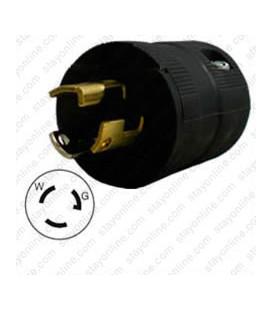 Hubbell HBL4723VBK NEMA L5-15 Male Plug - Valise, Black