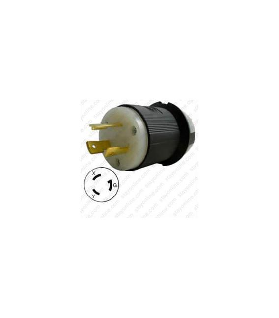 Hubbell HBL2321 NEMA L6-20 Male Plug