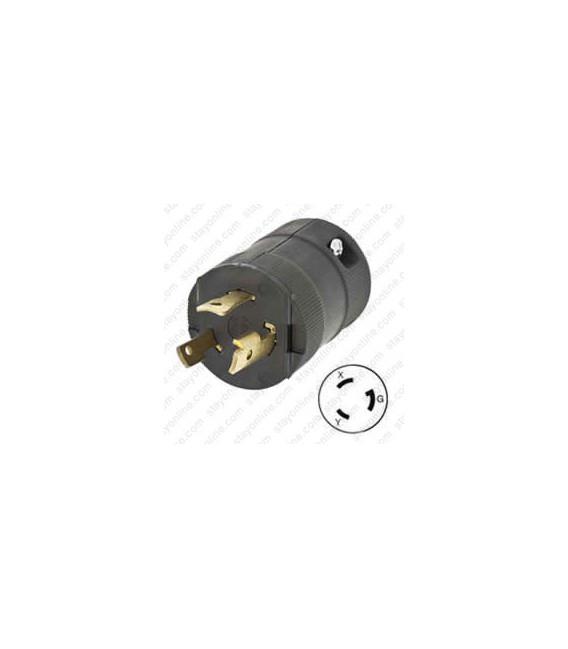 HUBBELL HBL2621VBK NEMA L6-30 Male Plug - Valise, Black