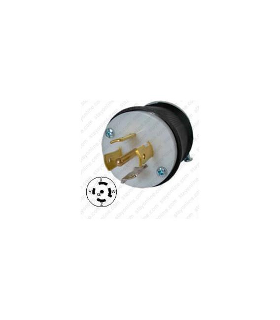 Hubbell HBL2511 NEMA L21-20 Male Plug