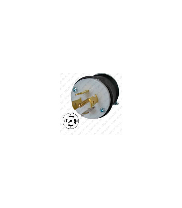 Hubbell HBL2511 NEMA L21-20 Male Plug on