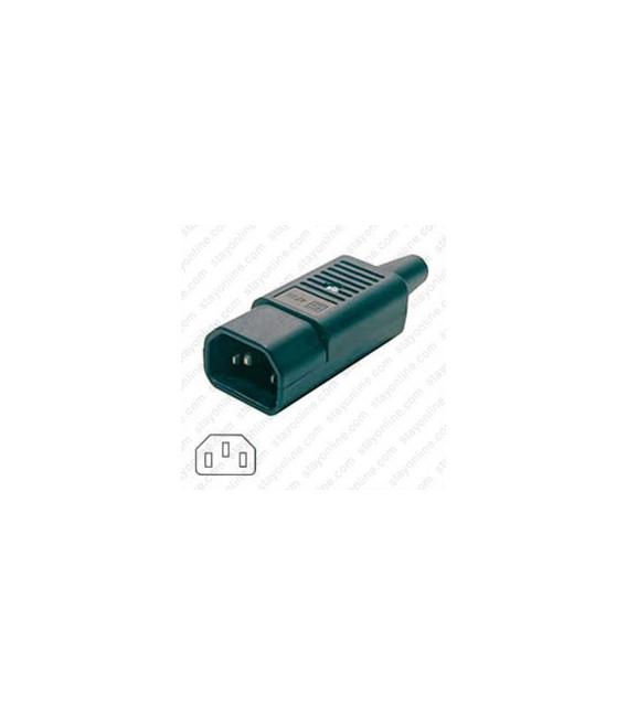 AC Plug IEC 60320 C14 Male Plug 15 Amp 125/250 Volt Straight Entry