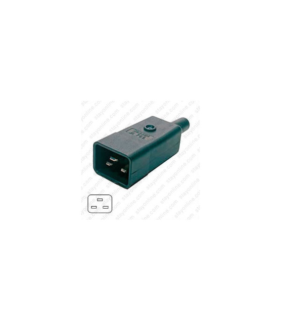 AC Plug IEC 60320 C20 16 Amp Male Straight Entry VDE