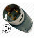 Hubbell CS8165C California Standard Male Plug - 50 Amp, 3-Phase 480 Volt