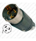 Hubbell CS8365C California Standard Male Plug -50 Amp, 3-Phase 250 Volt