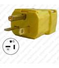 Hubbell HBL5364VY NEMA 5-20 Male Plug - Valise, Yellow