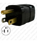 Hubbell HBL5966VBLK NEMA 5-15 Male Plug - Valise, Black