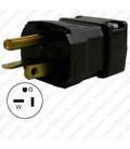 Hubbell HBL5364VBK NEMA 5-20 Male Plug - Valise, Black