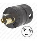 HUBBELL HBL4773VBK NEMA L7-15 Male Plug - Valise, Black