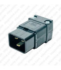 Hubbell H320P C20 Straight Entry Male Plug - 20 Amp, 12 AWG, UL