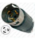 Hubbell CS8265C California Standard Male Plug - 50 Amp, 250 Volt