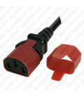C13 Secure Insert Tab Contact Retention Insert for Yung Li or Stay Online IEC 60320 C13 Cord into a C14 Inlet - Red