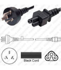 China GB 2099 Male to C5 Female 1.8 Meters 2.5 Amp 250 Volt H05VV-F 3x0.75 Black Power Cord